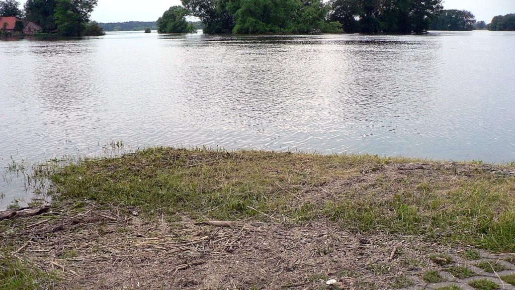 Alles zwischen dem Treibgut und der Wasserkante ist wiedergewonnenes Land :-)